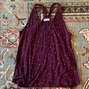 Maurices maroon stars racer back tank